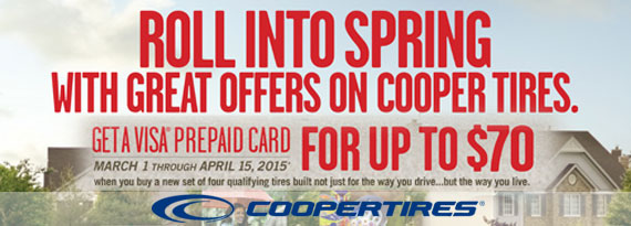 Cooper Spring Savings Event - Up to $70 Off
